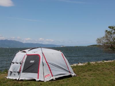 キャンプ設営