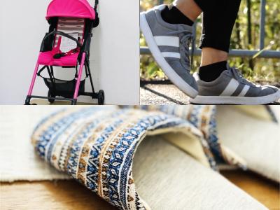 ベビーカー、チャイルドシート、スリッパ、靴・スニーカー