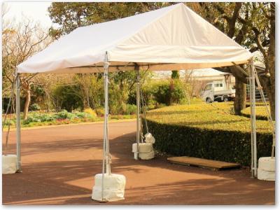 仮設テントなどの大型布製品